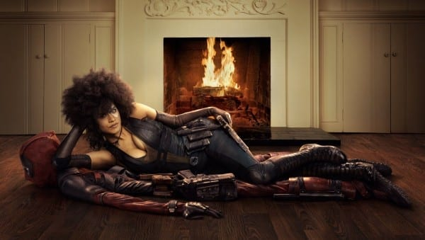 Domino Strikes a Pose for Deadpool 2