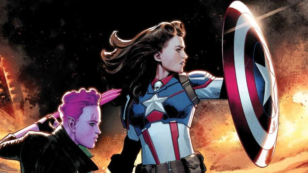 """<span class=""""entry-title-primary"""">Marvel Comics Reveals Peggy Carter as Captain America</span> <span class=""""entry-subtitle"""">The S.H.I.E.L.D. founder will take up the shield</span>"""