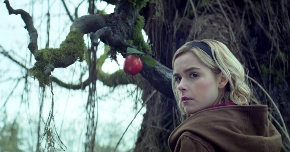 """<span class=""""entry-title-primary"""">Netflix's Chilling Adventures of Sabrina Trailer Embraces Horror Themes</span> <span class=""""entry-subtitle"""">Welcome to Greendale</span>"""