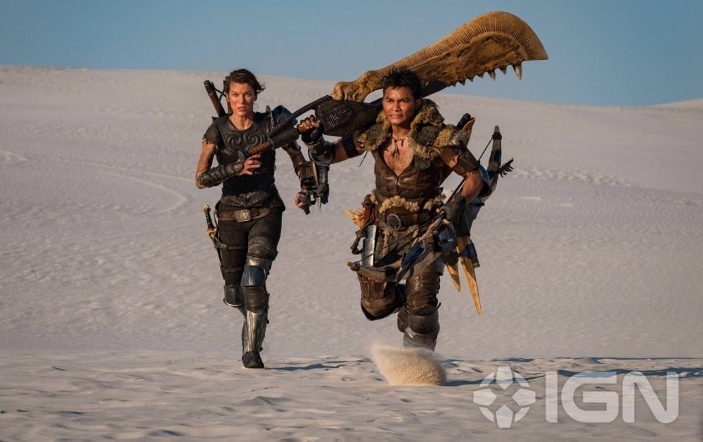 """<span class=""""entry-title-primary"""">Milla Jovovich Looks Badass in First 'Monster Hunter' Photo</span> <span class=""""entry-subtitle"""">With a big ol' jawblade</span>"""